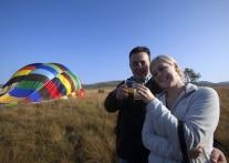 鳥になった気分で南アフリカの大地を見下ろす  バルーンサファリ